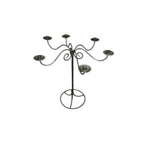 Location Chandelier 6 branches en fer forgé H:75cm