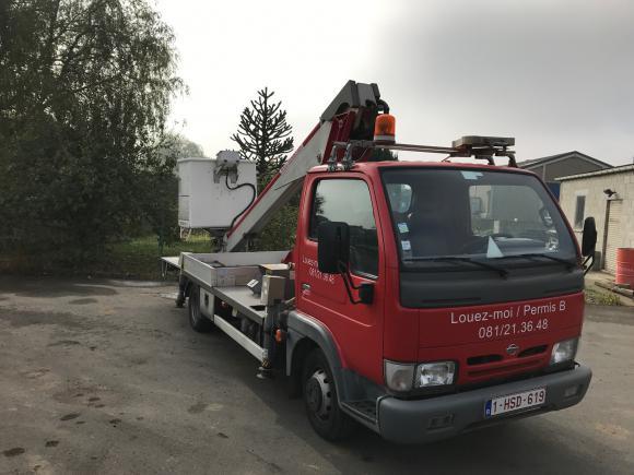 Location Nacelle élévatrice de 16 mètres sur fourgon/camionnette pour travaux en hauteur PERMIS B