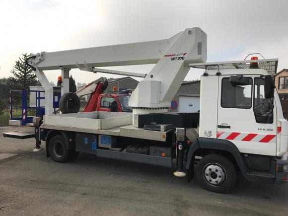 Location Nacelle élévatrice de 27 mètres sur camionnette/fourgon pour travaux en hauteur