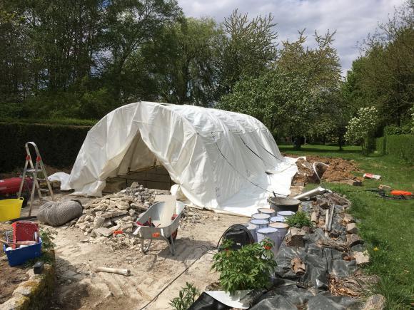 Location Tente de Chantier (piscine - sablage (aérogommeuse, hydrogommeuse, bateau, voiture, - construction béton - ...)