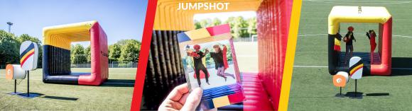 Location Photos et videos dans un cube gonflable - Jumpshot