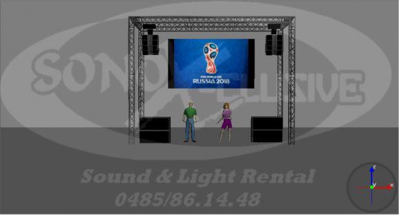 Location KIT COMPLET: ecran led 10m² + Sonorisation Line Array