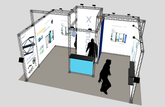 Location Les stands Modul-X - Stand 25M² - 520x400x310
