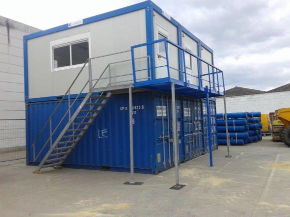 Location modules bureaux de chantier construction modulaire container mod - Module de construction ...