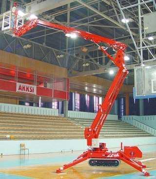 Location Nacelles araignées TEUPEN - Élévation de personnel avec bras articulé pour travaux et chantiers en hauteur