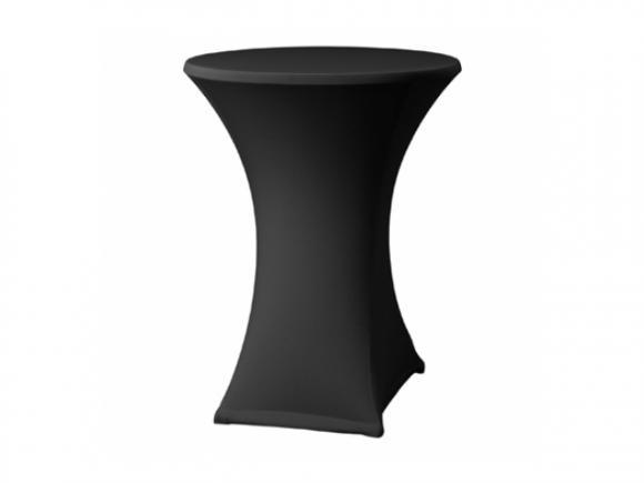 Location Housse stretch noire - Housse pour table mange-debout - Table haute