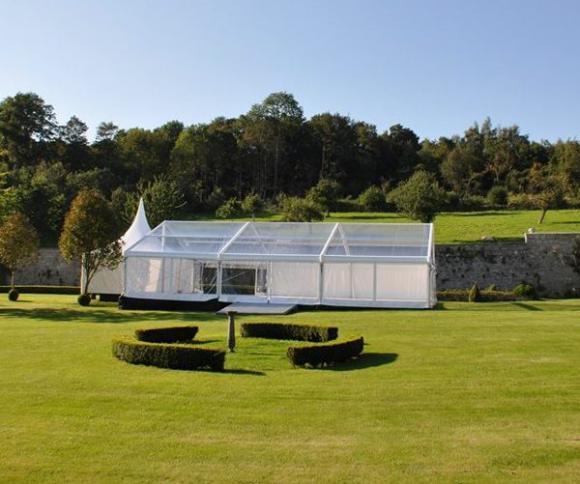 Location Tente 10x15m transparente – 150m² - Chapiteau - Pagode - Tonelle