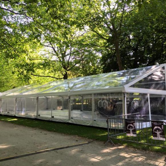Location Tente 10x25m transparente – 250m² - Chapiteau - Pagode - Tonelle