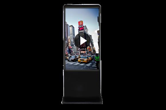 Location Totem vidéo 42-46 pouce - borne interactive grand écran